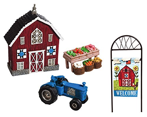 New creative Welcome to my Farm mini giardino 4 pezzi (Red Barn Ranch)