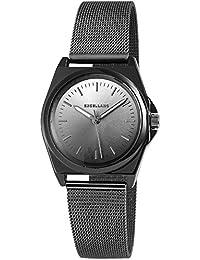 Trend de Wares de mujer reloj de pulsera Negro Plata Titanio Analog Mesch banda cuarzo Metal clásico mujer reloj