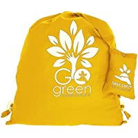 Multiuso Save the Earth coulisse Top Zaino giallo - amichevole riutilizzabile di Eco Borsa in cotone Shopping