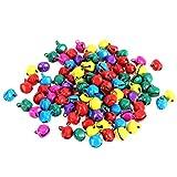 WINOMO Jingle Bells Pequeñas Campanas para Manualidades para Navidad Xams árbol decoración Joyas 12 mm 100 Piezas (Colorido)