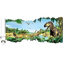 Vinilo extraíble 3d caminar dinosaurios en parque habitación pegatina de pared Cuarto Del Bebé, Color sala de estar pegatinas de pared