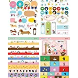 s - 8 Sheets Lovely Diy Paper Craft Memo Pads Stickers Planner Calendar Book Cute Diary Sticker - In Book Office Calendar Book English Color Planner Planner Design Children Wall