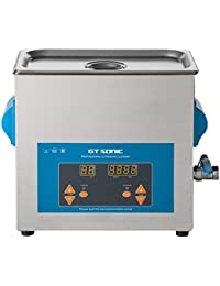 GT SONIC Ultrasonic Cleaner 2L/3L/6L Ultrasonic Jewelry Cleaner Machine with Adjustable Timer for Jewellery Rings Watches Eyeglasses Dentures Coins Metal Parts Lab Tools and More