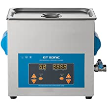 GT Sonic 6 Liter Digital Display Ultrasonic Cleaner with Timer Setting Adjutable Used for Scientific Lab,Industry,Jewelry Manufacturing,Medical and Dental Labs