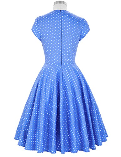 Womens Vintage Retro Dress 1950s A-Line Swing Dress Festival Party Dress