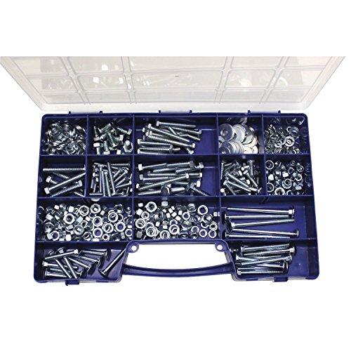 Preisvergleich Produktbild SECOTEC Gewindeschrauben-Sortiment / 560-teilig / Sechskantschrauben,  Flachrundschrauben & Muttern im praktischen Koffer / hochwertiger Stahl verzinkt