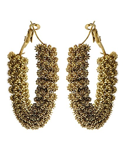 Cinderella Collection By Shining Diva Metal Hoop Earring For Women (Gold)