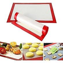 Feida - Alfombrilla de silicona para horno, antiadherente, resistente al calor, color blanco