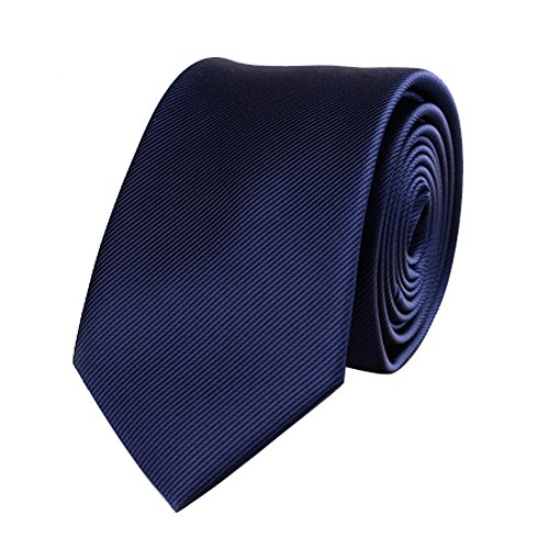 Mens Skinny Tie Necktie with Stripe Textured 6 cm / 2.4inches- Various Colors
