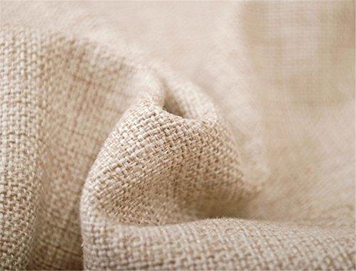 Elviros Dekorativ Baumwoll Leinen Mix Kissenbezug 45 x 52cm - Tropische Blätter -