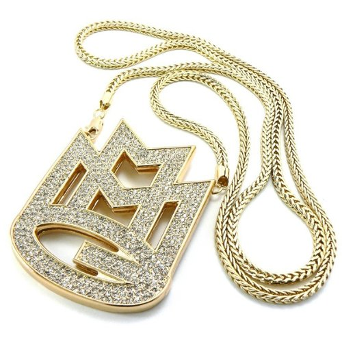 galhamnew-or-iced-out-rick-ross-maybach-musique-groupe-mmg-pendentif-914cm-3mm-franco-chane-collier