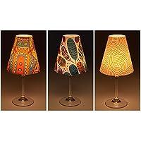 """'Candle Lights/Pantallas de lámpara para copas de vino/deko de pantallas de lámpara/lámpara/Té luz/Lampshades/lámpara pantalla de Juego """"Keno mesa decorativa, 3piezas)"""
