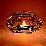 Hosaire 1x Kerzenständer Kreative Handwerk Metall Kerzenständer Startseite Hochzeit Dekoration Kerze Kerzenständer (Schwarz) 13 * 13 * 5.5CM - 7