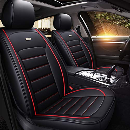 Preisvergleich Produktbild Luxus Autositz Kissenbezug 5D dreidimensionale Platte PU-Leder Stoff kompatibel Airbag vier Jahreszeiten universal verstellbar, B