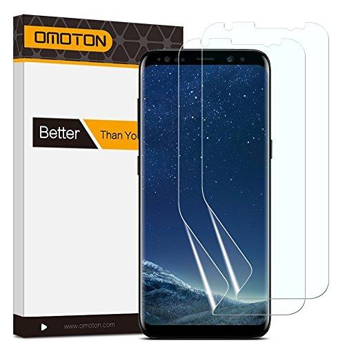 2 Pack OMOTON Galaxy S8 Protector de Pantalla