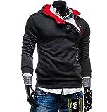 Modo Vivendi   Men Sports Coat   Mens Casual Winter Jacket (XXX-Large, Grey Jacket - Red Zipper)