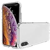 IVSUN Coque iPhone XS Max, Souple Clair TPU Silicone Housse, [Ultra Fine][Ultra Léger] Anti-dérapante de Protection Cover pour iPhone XS Max iPhone XS Plus-6.5' - Transparent