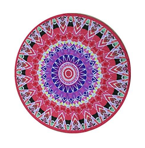 Smile YKK 150*150cm Gedruckt Runde Geblümte Wandteppich Runde Mandala Picknickdecke Bilder # C