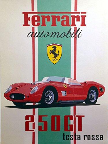 Ferrari 250GT Nostalgic Metal Retro Vintage Tin