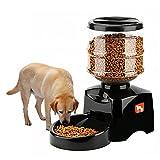 KOBWA 5.5L Automatischer Zeitgesteuerter Quantitativer Futterautomat mit Ton-Aufnahmefunktion und LCD Bildschirm, Programmierbarer Timer 3 Mahlzeiten Pro Tag - für Hunde und Katzen