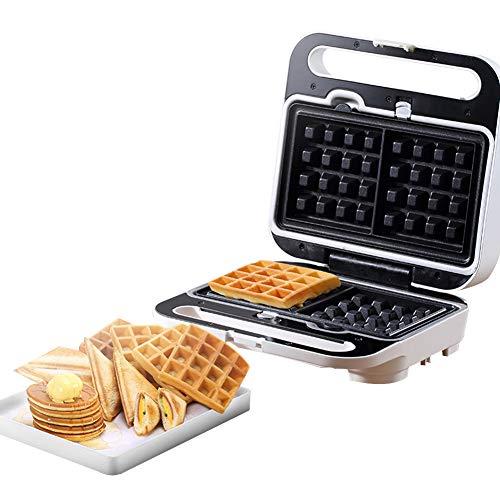 FSGD Sandwichmaker 3 in 1 Waffeleisen 900W Temperaturregelung mit 3 Abnehmbare Platten für Toast, Waffeln, Fleisch Antihaftbeschichtet