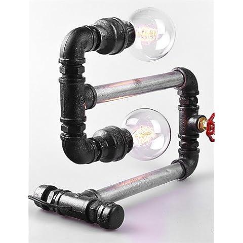 Sepfortn 2015 Nuovo stile moderno tubo acqua Lampada da scrivania