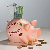 Preisvergleich für Spardose - Glücksschwein - Sparschwein Keramik 11 cm