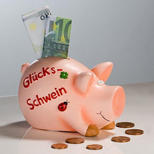 Spardose - Glücksschwein - Sparschwein Keramik 11 cm