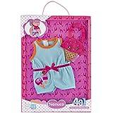 Nenuco - Pack de vestido, color azul y babero con decoración de helados (Famosa 700013507)
