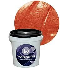 Wanders24 Metall-Optik (1 Liter, Kupfer) Effektfarbe, Wandfarbe, Metallic Wand, Glitzer Wandfarbe, Effekt Farbe, Wand Farbe, Wandfarbe Metallic, abwaschbar, Metall Effekt