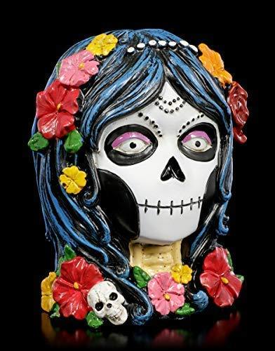 Figuren Shop GmbH Day of The Dead Gothic-Spardose - Deathlea | Fantasy Totenkopf Sparbüchse, handbemalt
