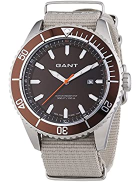 GANT Herren-Armbanduhr XL SEABROOK MILITARY Analog Quarz Nylon W70633