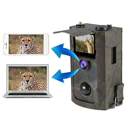 3G Wildkamera ( 3G GPRS GSM ), LESHP 12MP 1080P HD Nachtsicht Jagdkamera 120°Weitwinkel Vision Infrarote 20m, 2.4 Zoll LCD Wasserdicht Überwachungskamera, 0,5s Auslösezeit, Europäische Jagdwerkzeuge 3g Lcd