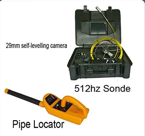Gowe Professional 40m Underground 512Hz Sonde Locator Empfänger Pipeline Inspektion Kanalisation Rohr Kamera mit Meter Zähler Sensor Größe: 1/10,2cm; horizontale Auflösung: 700TVL; Signal System: PAL (Locator-sonde)