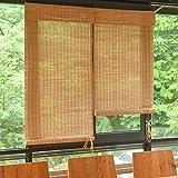 Bambusrollo Außen Außen Rollo Für Fenster/Pavillon/Balkon/Terrasse, Bambusjalousien Mit Volant, 85cm / 105cm / 125cm / 145cm Breite (Size : 85×160cm)