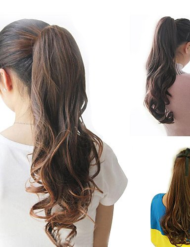 Perücke & XZL Perücken Fashion resistent, Pferdeschwanz Perücke Clip Wärme PU-Queue Haar Frauen Kostüm Natürliche Verlängerung langen Schwanz -
