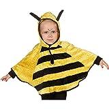 NET TOYS Bienenkostüm Kinder Biene Kostüm Cape Bienen Kinderkostüm Bienchen Poncho Karneval Kapuzenumhang Süßes Regencape Faschingskostüm Karnevalskostüme Tiere