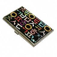 Alphabet Corée Nacre Métal Business porte-nom en acier inoxydable pour porte-badge avec étui de rangement