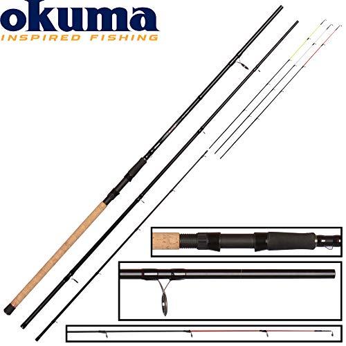 Okuma River Feeder Ceymar 4,20m 150g Feederrute, Angelrute zum Feedern im Fluss, Friedfischrute zum Futterkorbangeln, Grundrute
