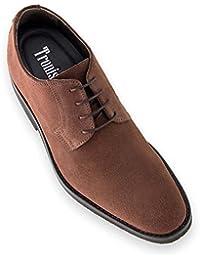 nouveau style gros rabais Chaussures Derbies En Daim Chamaripa Pour Les Hommes D'être 7 Cm De Plus - L61c20k013d (37 Gris) magasin de LIQUIDATION prix d'usine original jeu I7t2eJkjD