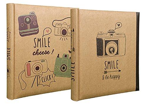 Lot de 2 albums photos Smile à pochettes 13x18 pour 200 photos