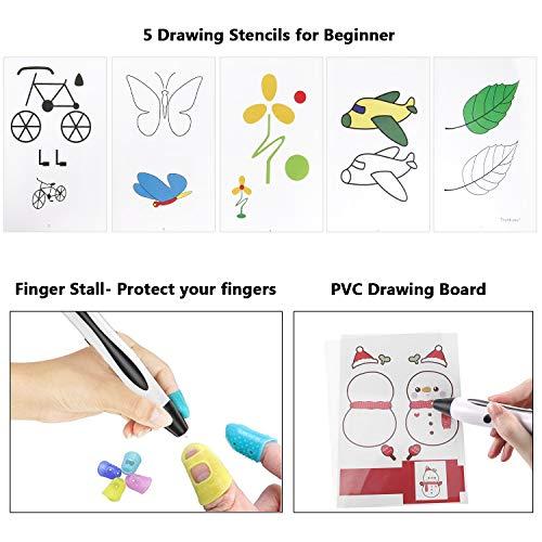 3D Stifte, für Kinder Erwachsene Anfänger mit PLA Filament 12 Farben -【Neueste Version 2019】Lovebay 3D Stifte Set mit PLA Farben 120 Fuß, 3d pen Starter Set als kreatives Geschenk, Bastler zu 3D kritzeleien, malen, basteln und drücken - 6