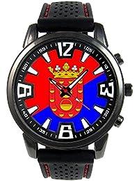 Lanzarote España Reloj para hombre con correa de silicona