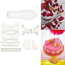 CLE DE TOUS - Kit molde cortador zapato de mujer Moldes para fondant (9 piezas)
