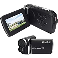 "GDV5250 Digital Video Camera 1080P Full HD DV Camcorder with Rechargeable Battery/2.7"" TFT LCD Screen/270 Degree Rotation for Children/Beginners/Elderly"