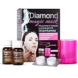 Diamond MAGIC MASK - Maschera in Tessuto a Preparazione Istantanea - Effetto Rigenerante Lifting Anti-Age -Idratazione Profonda - con Collagene e Acido Ialuronico - 2 Applicazioni
