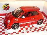 Bburago Fiat 500 Abarth Rot Ab 2007 1/18 Modell Auto mit individiuellem Wunschkennzeichen