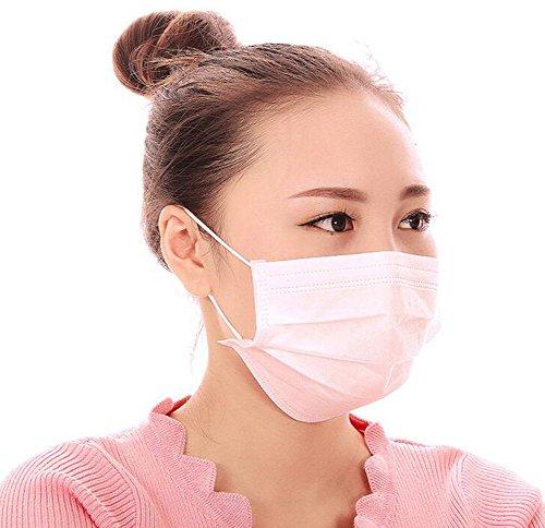 ace Maske 3Ebene Anti Staub-Schutz Filter Mund Maske Cechya Mund Cover Maske Atemschutzmaske, weiß (Ebene-maske)