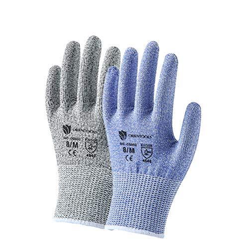 2er-Pack Unisex-Schutzhandschuhe mit Schutzstufe 5 (höchster Schutz). (EN388 zertifiziert, Lila und...