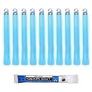 Cyalume Bâton lumineux bleu SnapLight Glow Sticks 15cm, Light Sticks très lumineux avec durée de 8 heures (Carton de 100)